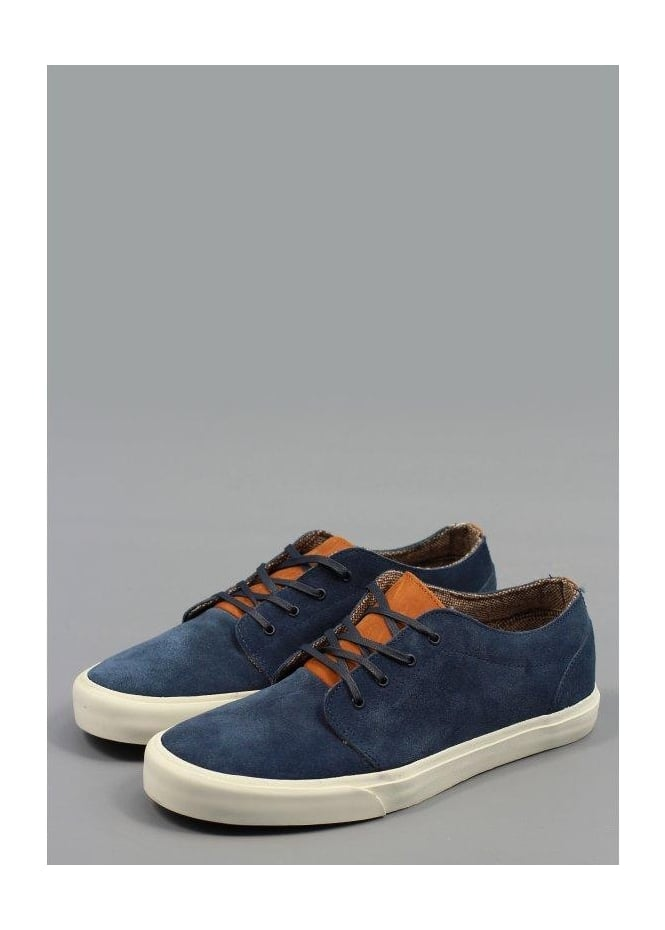106 Vulcanized Suede Shoes Dress Blue