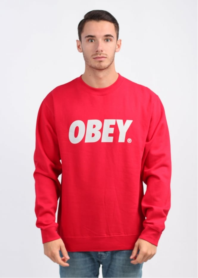 Obey Obey Front Jumper - Red/Grey