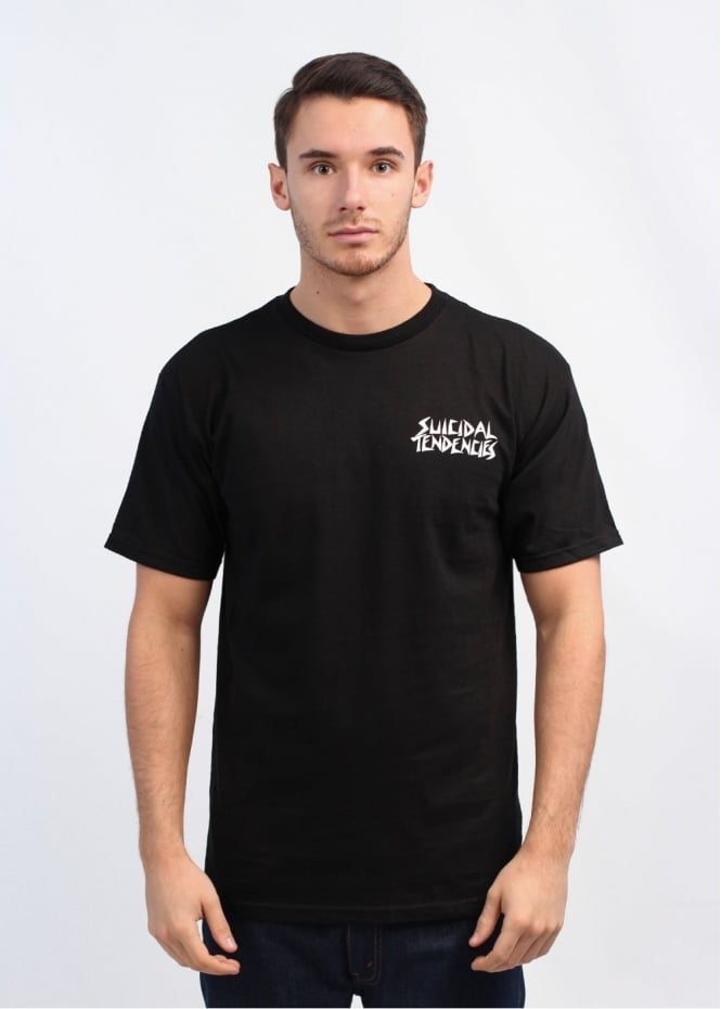 x Suicidal Tendencies Pool Skater T-Shirt - Black