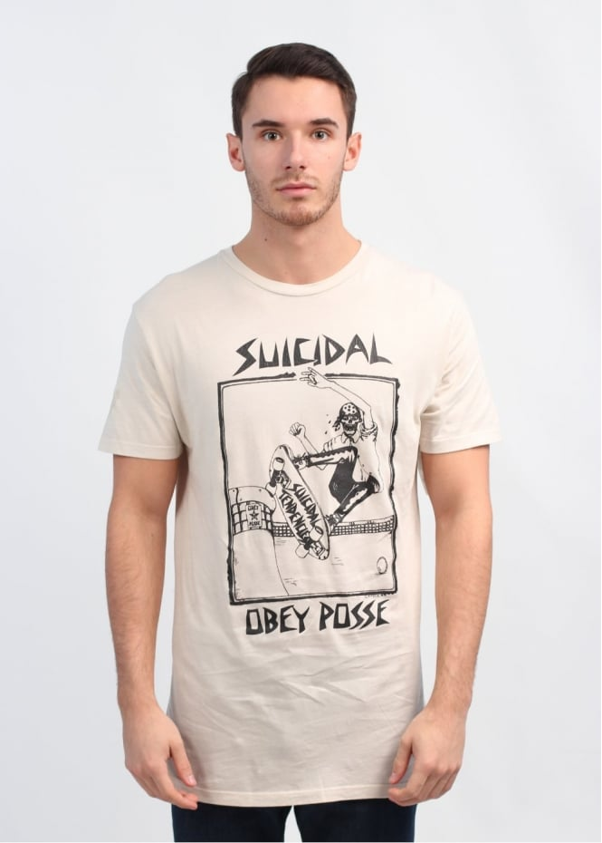 x Suicidal Tendencies Pool Skater T-Shirt - Fog