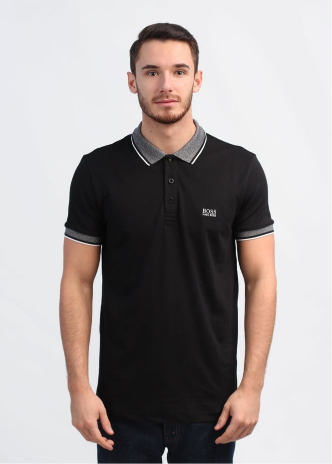 Hugo boss green paule polo shirt black for Hugo boss green polo shirt sale