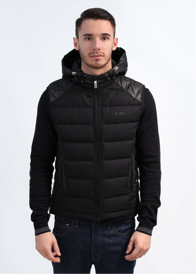 hugo boss jogginghose hugo boss saggy zip up hooded sweatshirt sweater vest boss hugo boss men. Black Bedroom Furniture Sets. Home Design Ideas