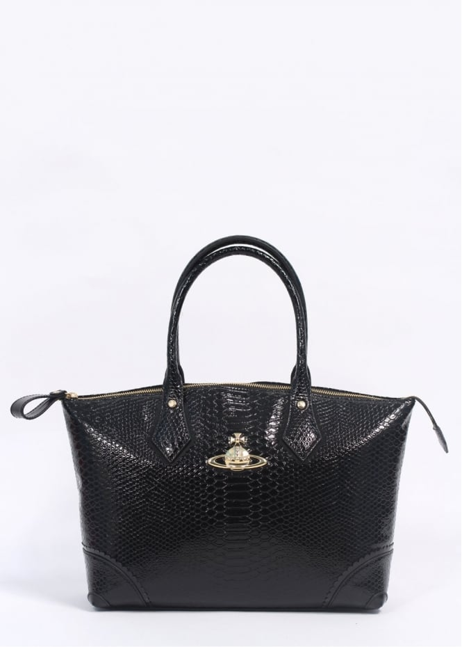 Vivienne Westwood Accessories Frilly Snake Eco Bag Black ...