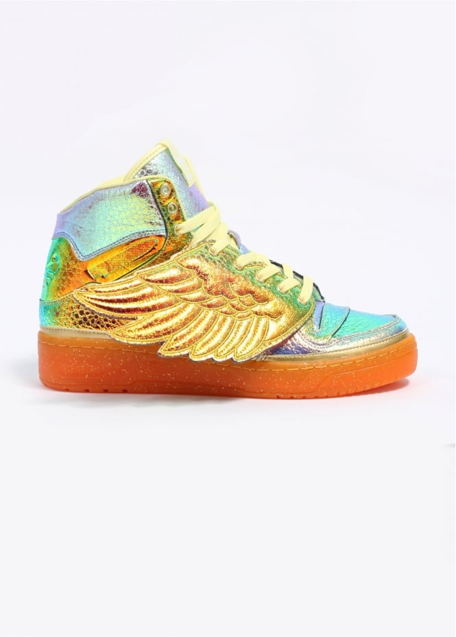 Adidas Originals X Jeremy Scott Foil Wing Hi Top Trainers