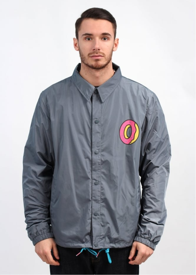 Odd Future Single Donut Coach Jacket Charcoal