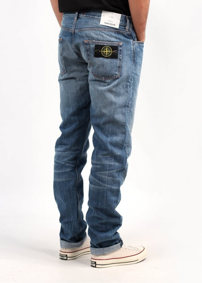 stone island tapered jeans blue triads mens from triads uk. Black Bedroom Furniture Sets. Home Design Ideas