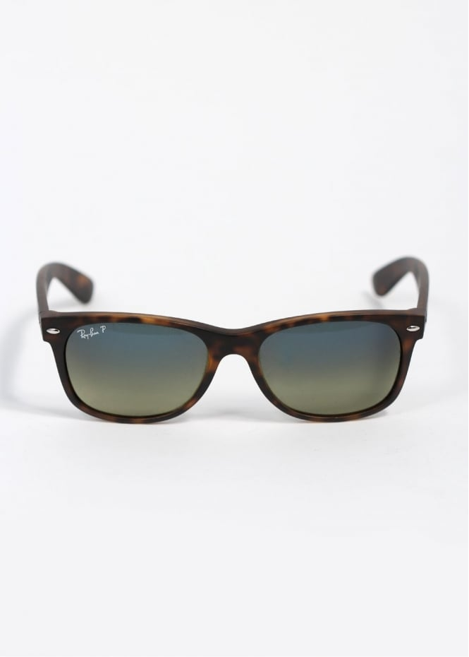 Ray-Ban Mens New Wayfarer Sunglasses - Havana - polarised