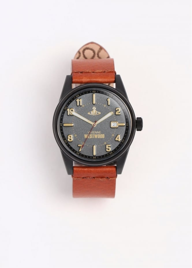 Vivienne westwood mens watches butlers wharf watch black tan triads mens from triads uk for Black tan watch