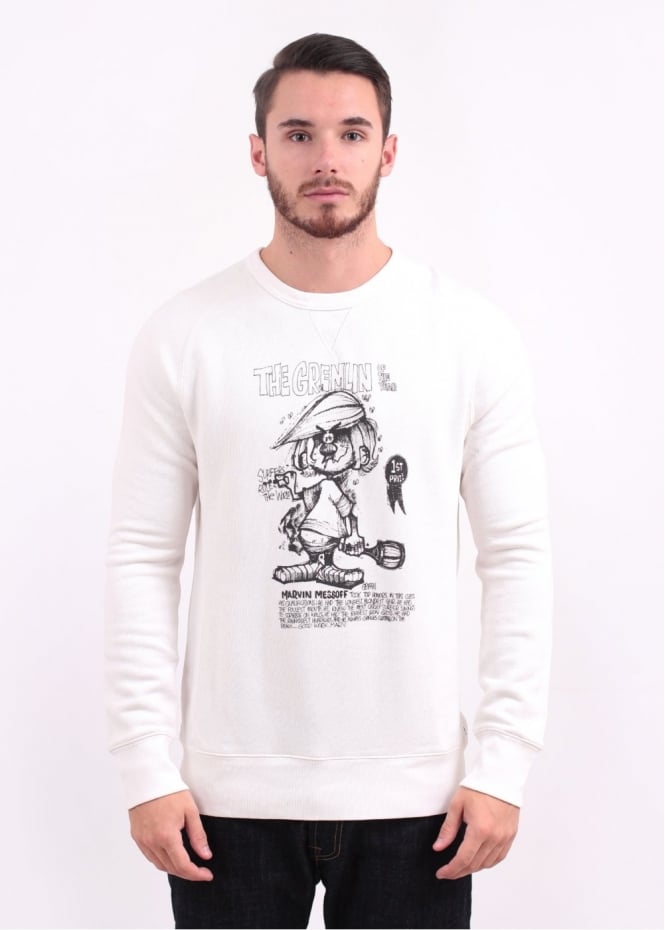 Levi's Red Tab x Rick Griffin Gremlin Graphic Sweater - Marshmallow