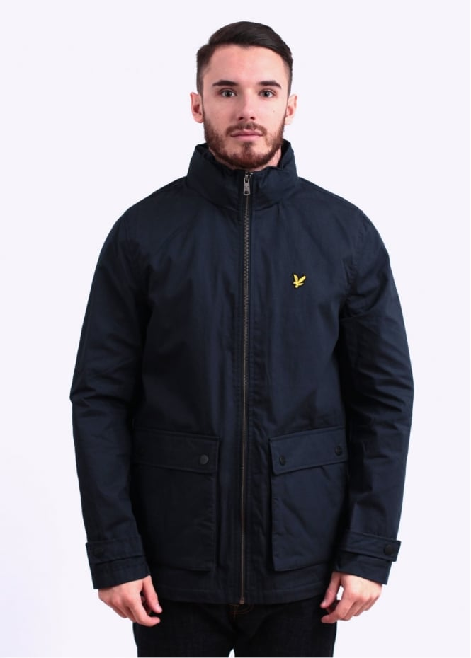 lyle scott microfleece lined jacket new navy. Black Bedroom Furniture Sets. Home Design Ideas