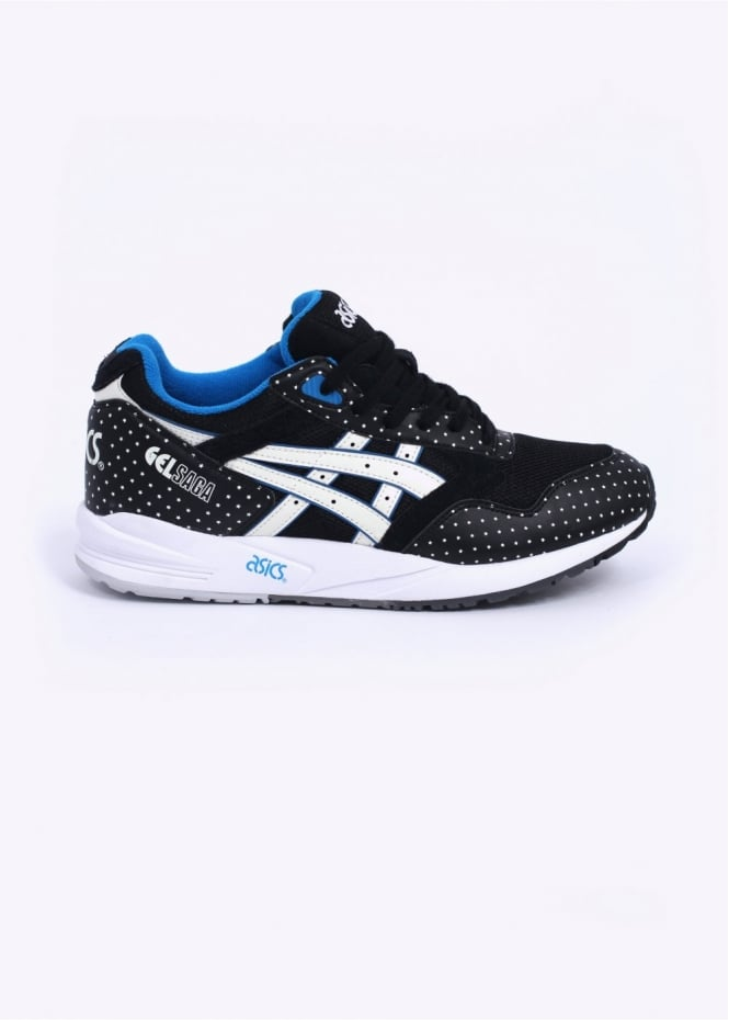 Asics Gel Saga Trainers - Black / Glow In The Dark