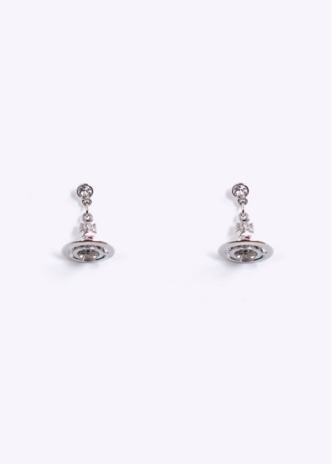 Vivienne Westwood Jewellery Petite Orb Earrings - Rhodium