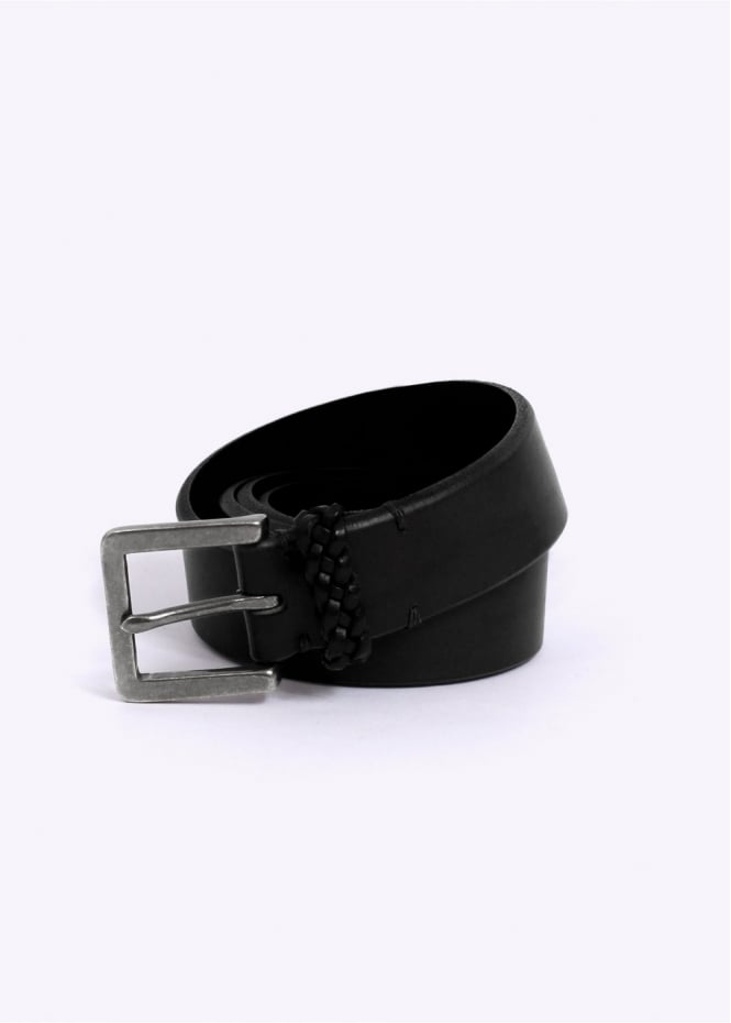 Paul Smith Saddle Strap Leather Belt - Black