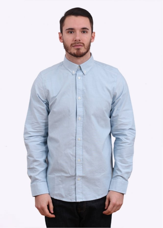 Carhartt Wip Long Sleeve Button Down Shirt Columbia Blue