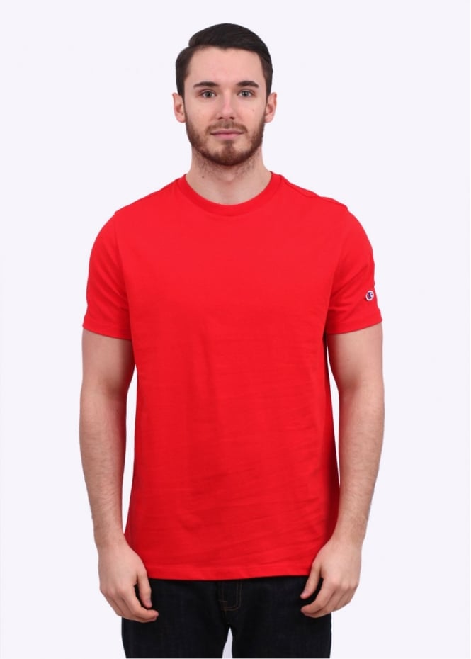 Champion Reverse Weave Crew Tee - Red