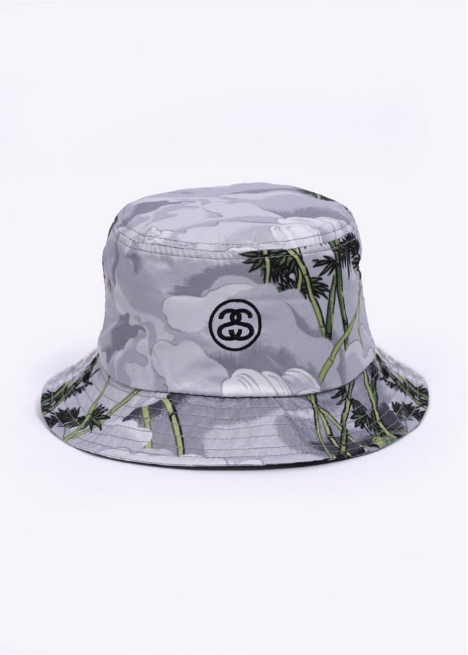 Stussy Chinese Bucket Hat Grey