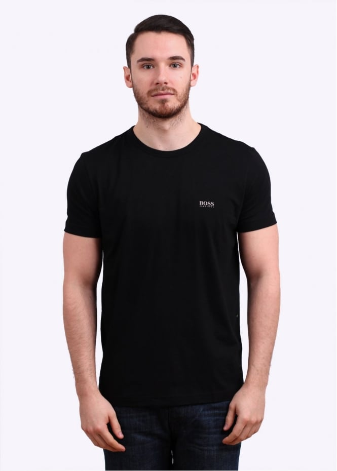 Hugo Boss Green Logo Tee - Black