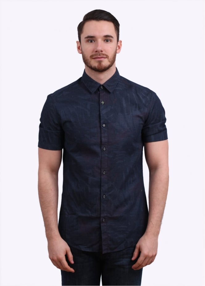 Hugo Boss Byagino Shirt - Navy/Pink