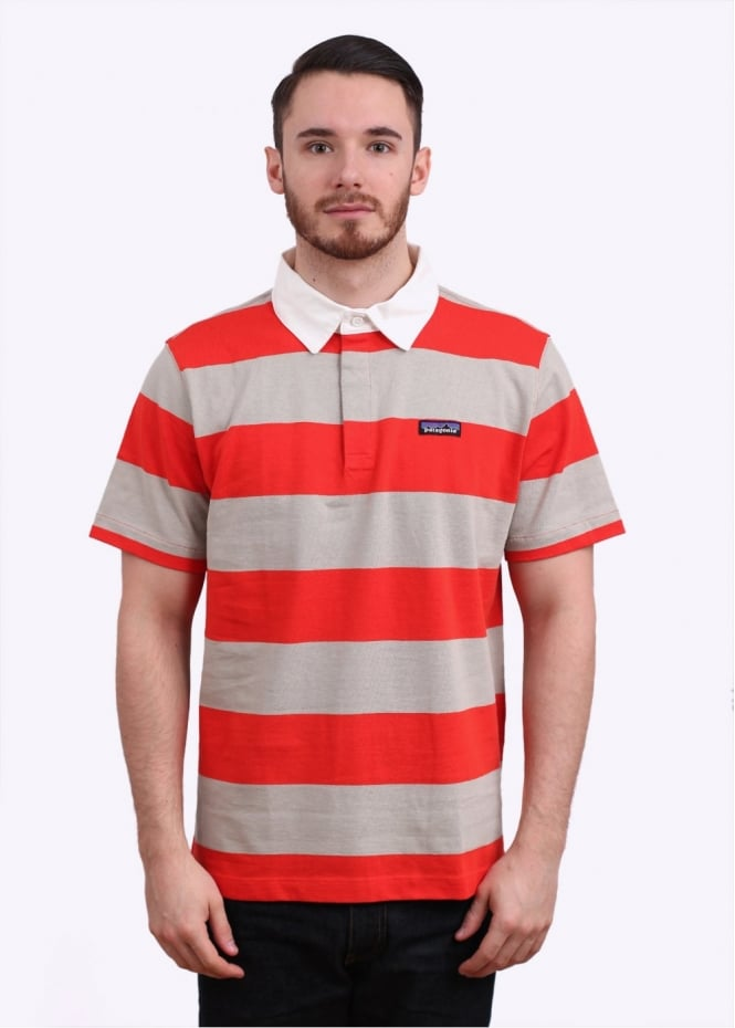 Patagonia Sender Rugby Polo Shirt - Turkish Red