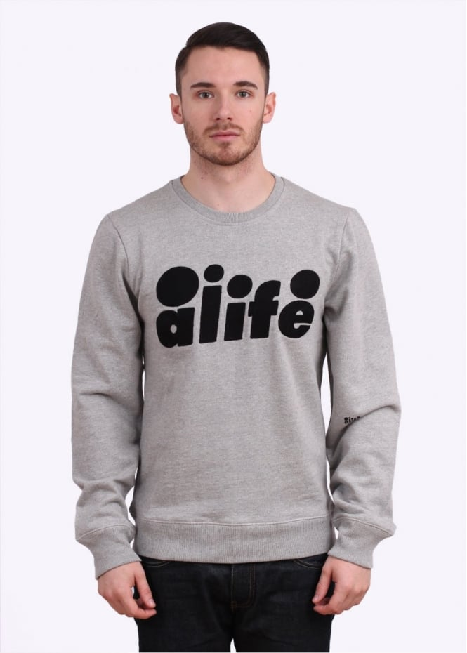 Alife Chainstitch Crew Sweatshirt - Grey