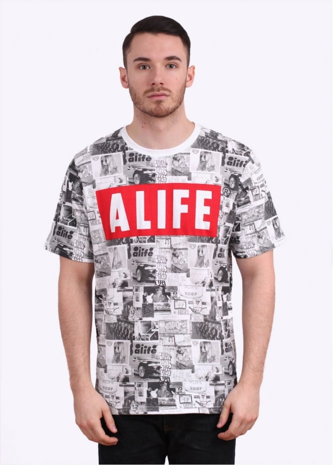 Alife Wall Tee - Multi Coloured