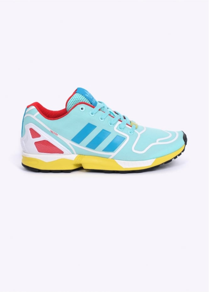 Adidas Originals Footwear ZX Flux TechFit Trainers - Aqua