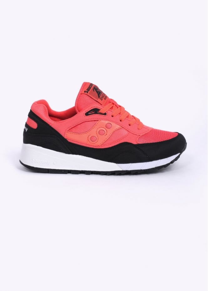 Saucony Shadow 6000 Trainers - Coral / Black
