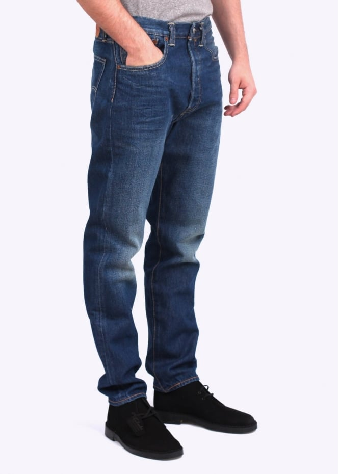 Levi's Red Tab 501 Customised Tapered Jeans - Blue Denim