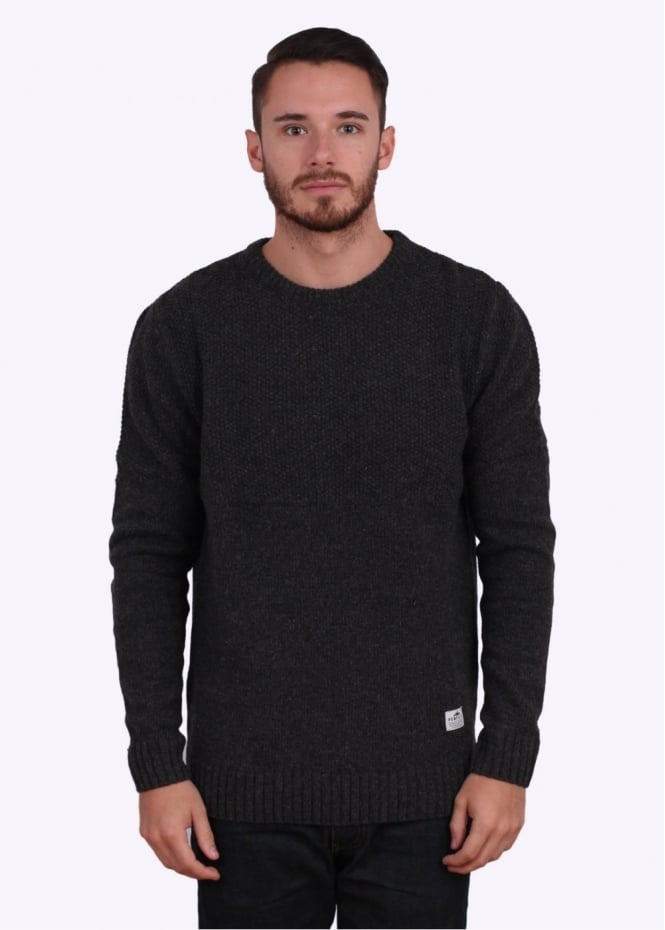 Penfield Shriman Contrast Knit Pattern Sweater - Grey