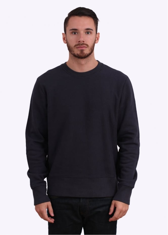 Paul Smith Detail Crew Sweater - Navy Blue