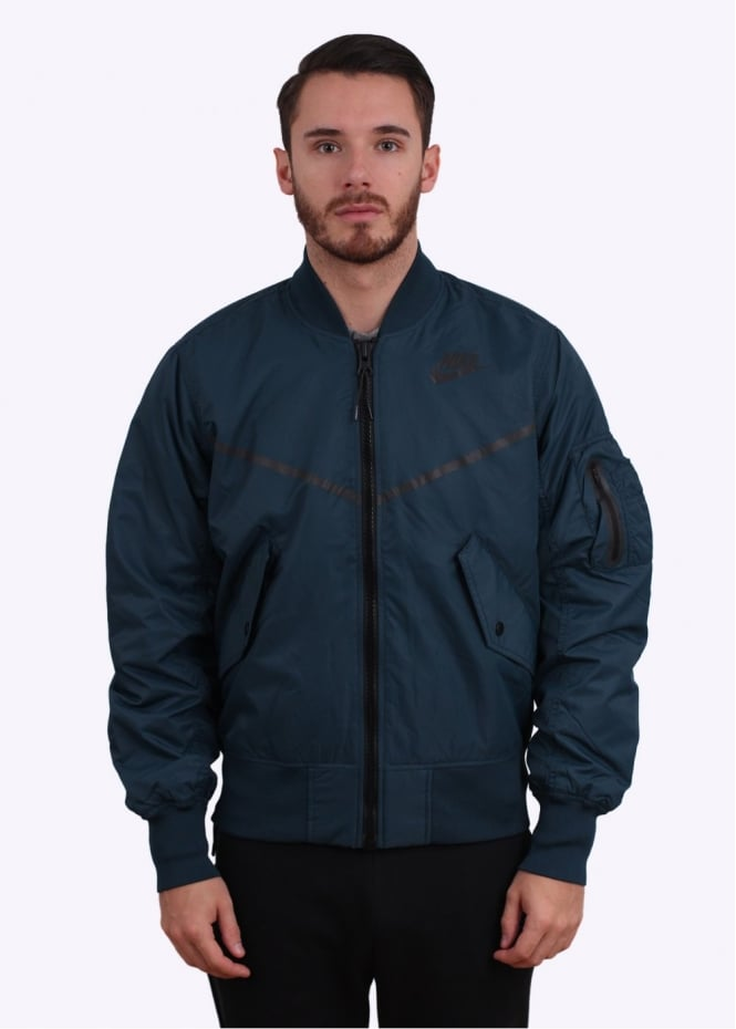 Nike Apparel MA-1 Bomber Jacket - Midnight Teal