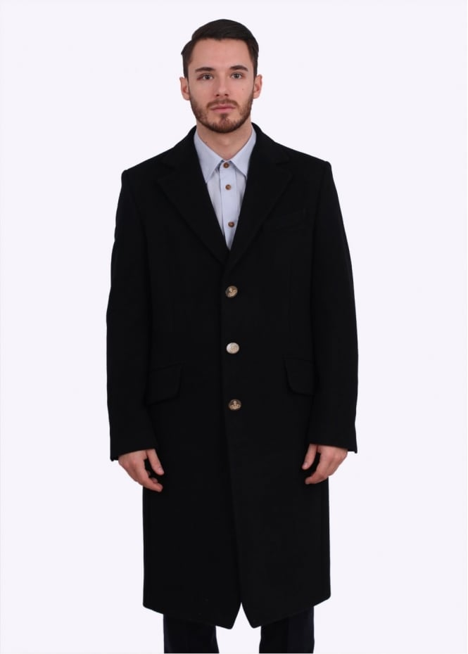 Vivienne Westwood Mens Long Formal Coat - Black