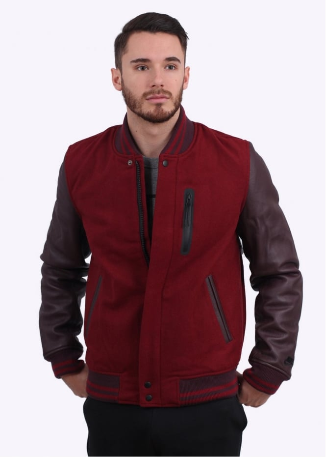 Nike Apparel Destroyer Jacket - Team Red Heather / Deep Burgundy