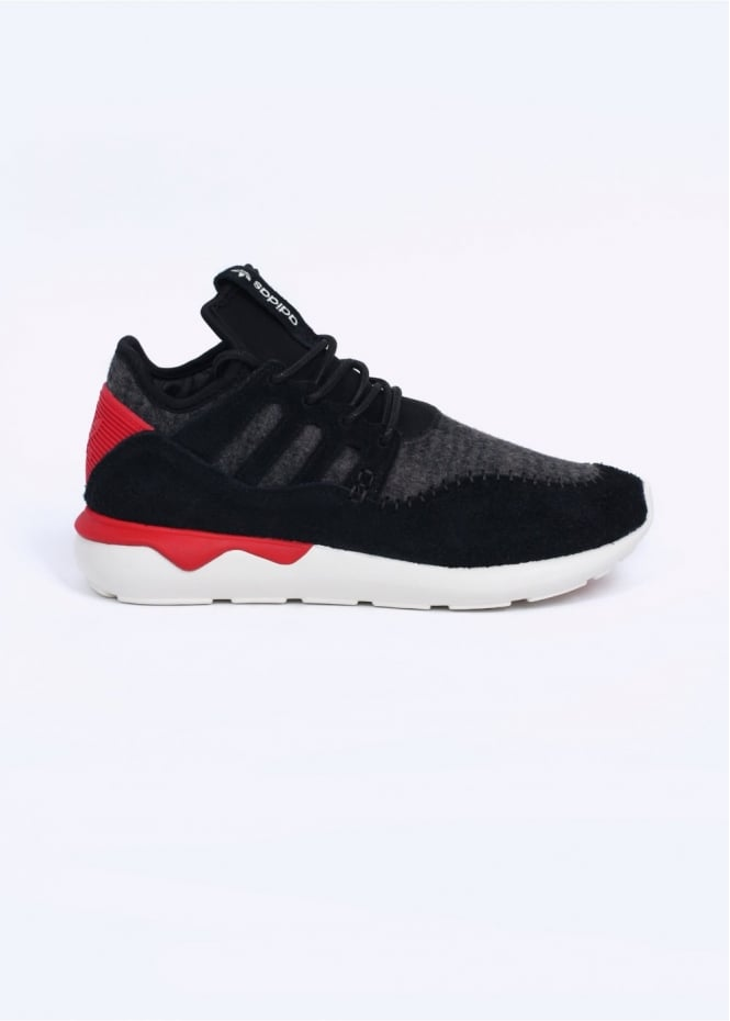 Adidas Originals Footwear Tubular Moc Runner Trainers - Core Black / Tomato / Off White