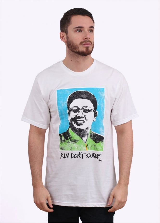 Stussy Kim Don't Surf Tee - White