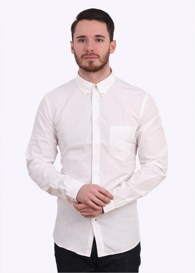 Paul Smith Long Sleeve Tailored Fit Shirt - White