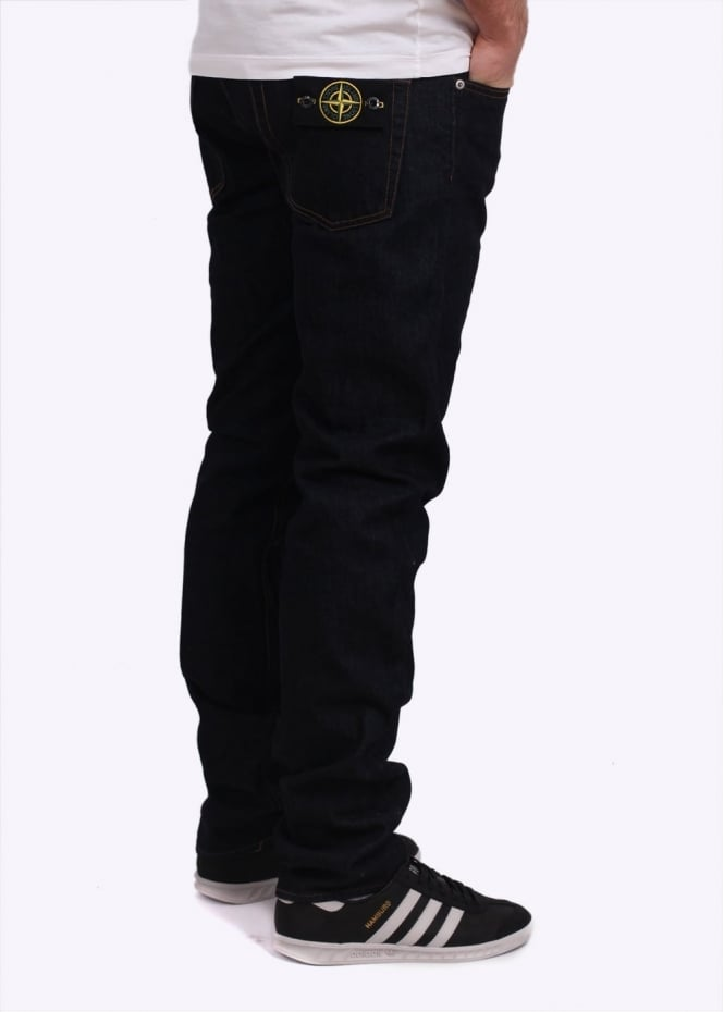 Stone Island Slim Wash Jeans - Washed Blue