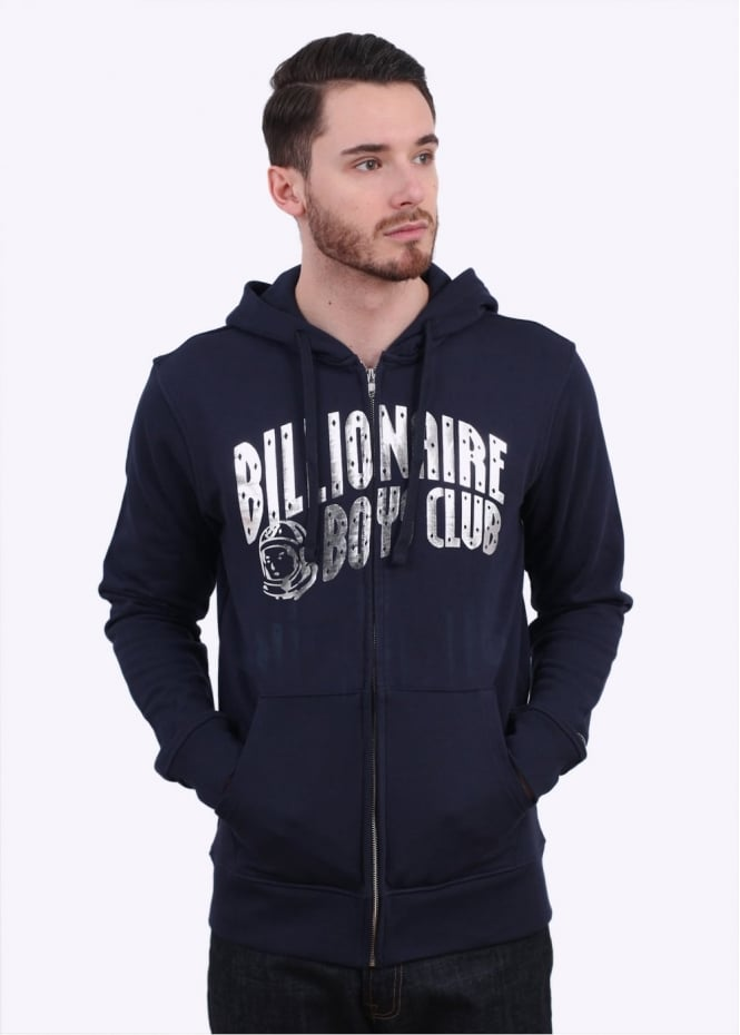 Billionaire Boys Club Arch Logo Zip Hoody - Navy / Silver