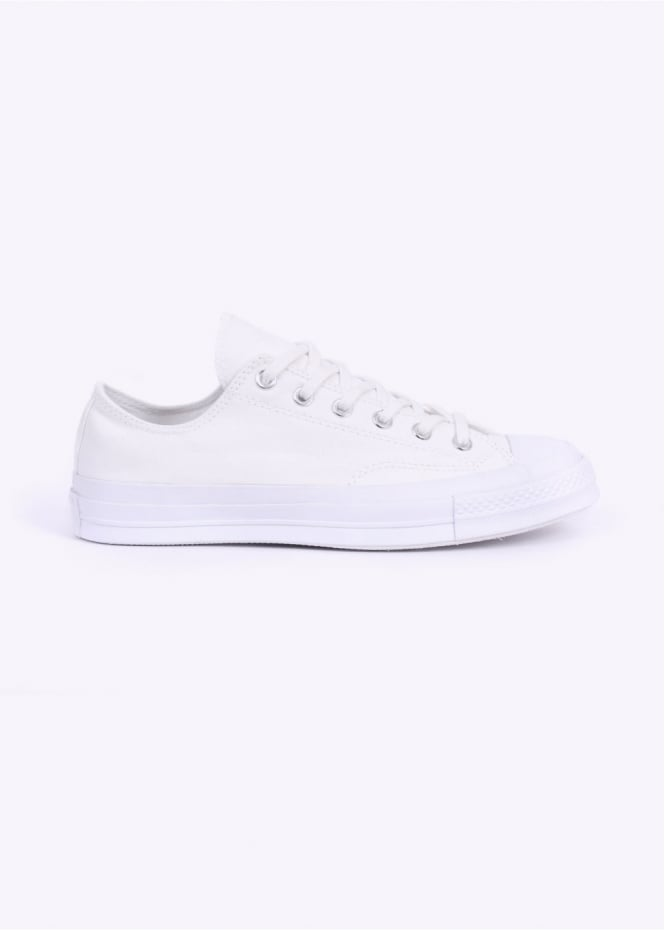 Converse Chuck Taylor 70's Ox Canvas Trainers - White Monochrome