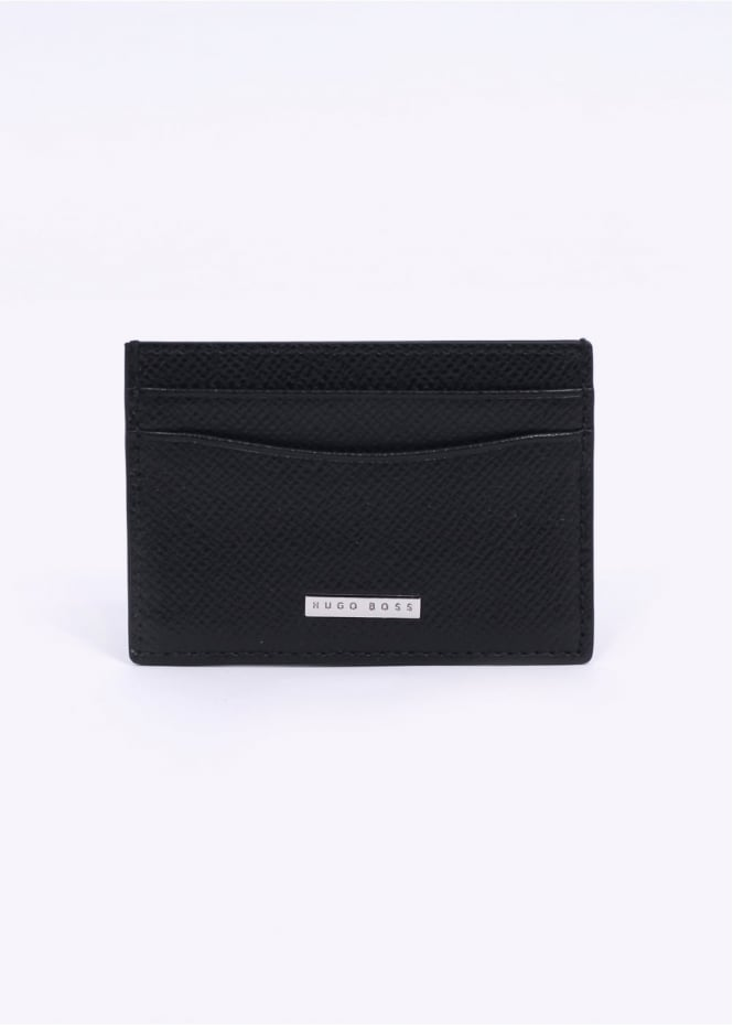 Hugo Boss Accessories Signature S Card Holder - Black