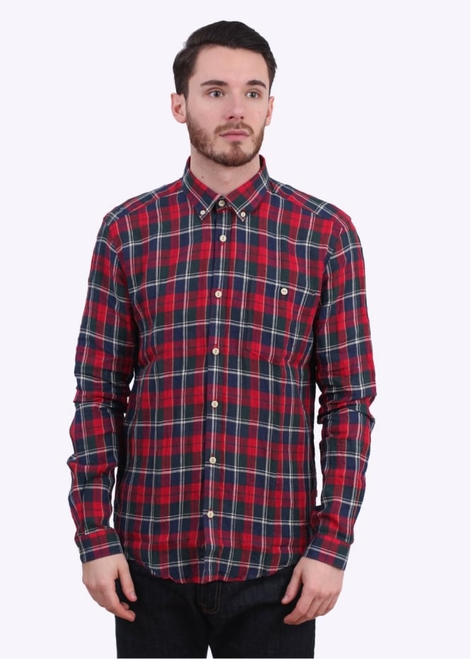 Barbour William Shirt - Rich Red