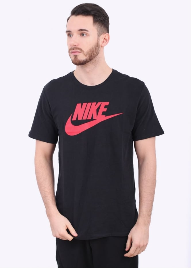 Nike Apparel Futura Icon Tee - Black / Red