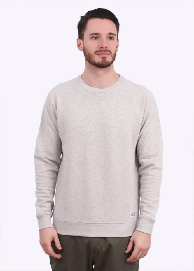 Norse Projects Ketel Crew Sweater - Light Grey