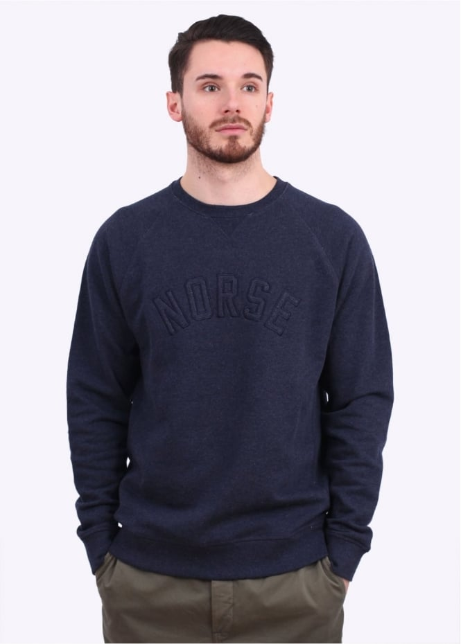 Norse Projects Ketel Logo Sweater - Dark Navy