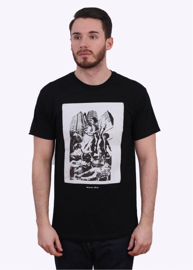 Obey x Jamie Reid Up They Rise Tee - Black