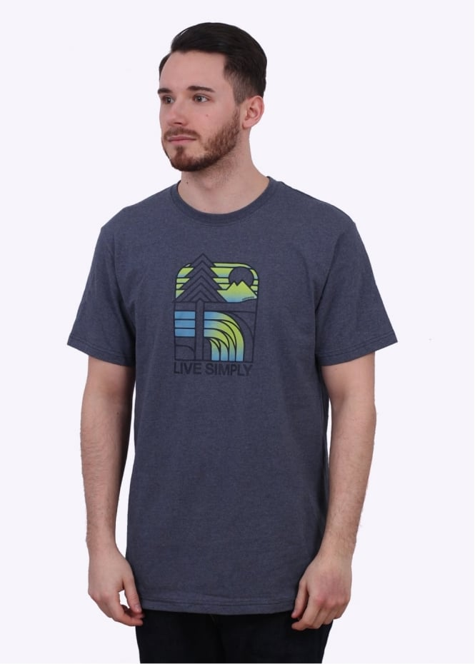 Patagonia Live Simply Landscape Tee - Prussian Blue