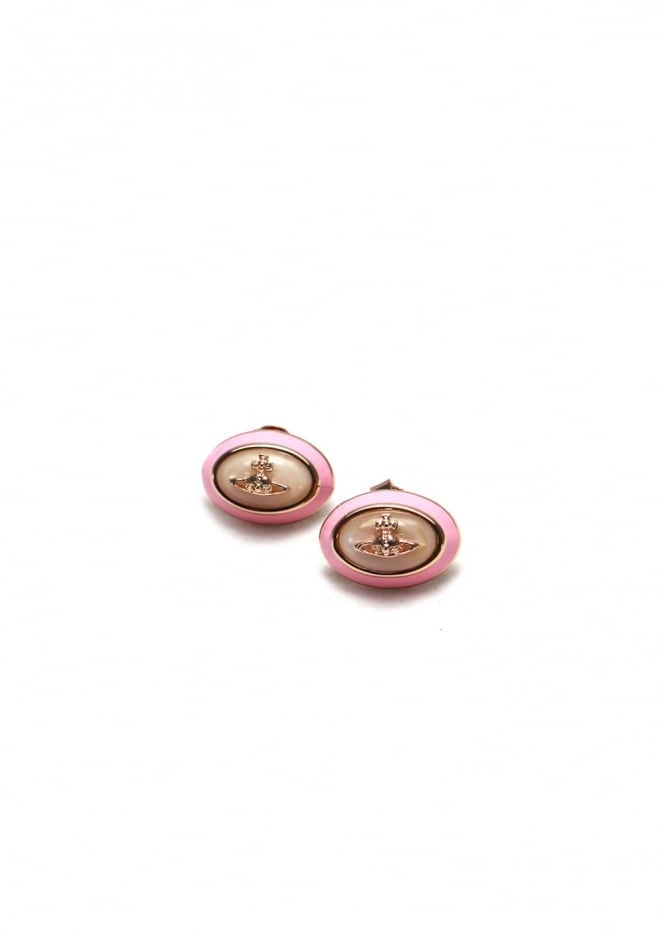 Vivienne Westwood Jewellery Dalia Earrings Gold/Pink