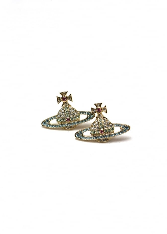 Vivienne Westwood Jewellery Kika Earrings Gold/Aqua One Size