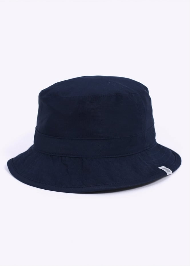 Norse Projects Reversible Light Ripstop Bucket Hat - Navy / Grey