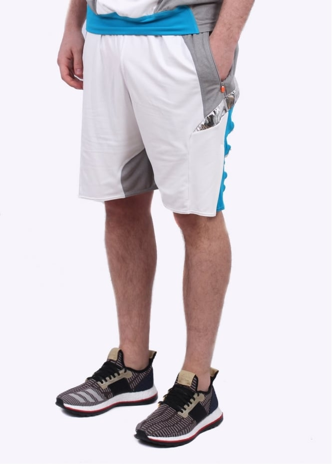 Adidas Originals Apparel x Kolor Hybrid Shorts - Grey / White / Aqua
